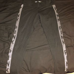 Rhinestone yoga pants